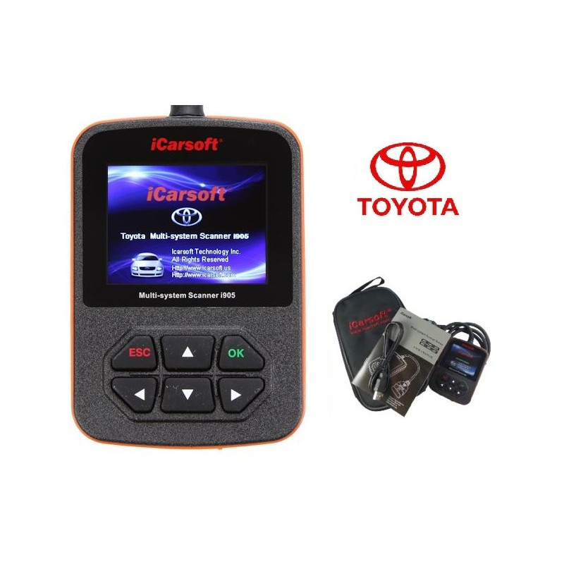www obd2tech com - Toyota Diagnostic Scan Tool i905 Code Reader ABS SRS